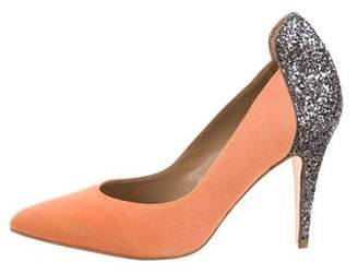 By Malene Birger Suede Pointed-Toe Pumps