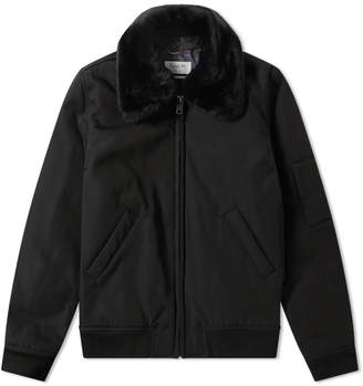 A.P.C. Louis W. Alpha Shearling Collar Jacket
