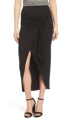 Women's Soprano Knotted Surplice Midi Skirt $35 thestylecure.com