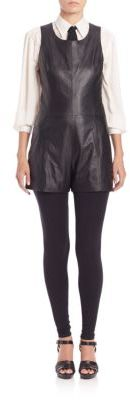 Polo Ralph Lauren Leather Short Jumpsuit $798 thestylecure.com