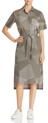 DKNY Pure Printed Short Sleeve Shirt Dress $248 thestylecure.com