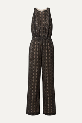 Rachel Zoe Roxane Embroidered Crepon Jumpsuit - Black