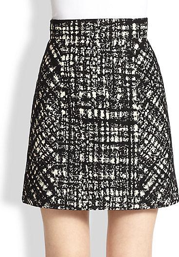 Paule Ka Two-Tone Jacquard Skirt