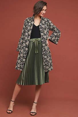 Anna Sui Floral Jacquard Coat