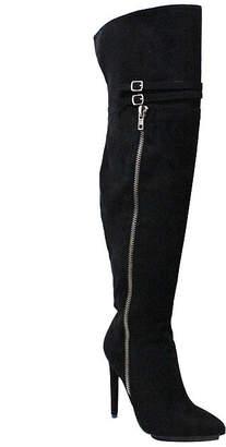 Michael Antonio Womens Wanna-Sue Over the Knee Boots Stiletto Heel Zip