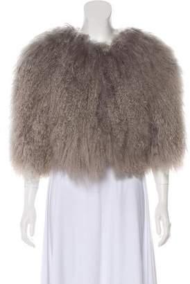 Alice + Olivia Short Sleeve Fur Jacket
