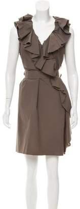 Lanvin Sleeveless Ruffle-Trimmed Dress