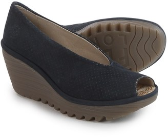 Fly London Yury Perf Shoes - Nubuck, Wedge Heel (For Women) $69.99 thestylecure.com