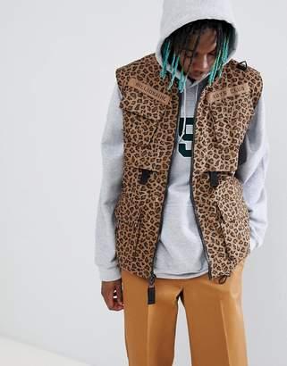 Billionaire Boys Club leopard print vest in brown