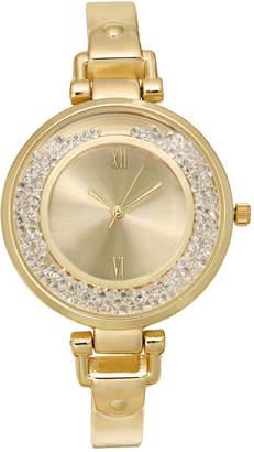Charter Club Women's Gold-Tone Bangle Bracelet Watch 35mm