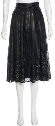 Matthew Williamson Sequined Midi Skirt