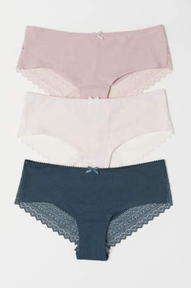 H&M 3-pack Hipster Briefs - Turquoise