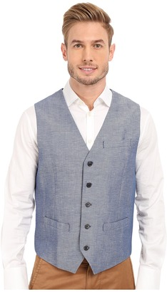 Perry Ellis Linen Cotton Twill Suit Vest $69.50 thestylecure.com