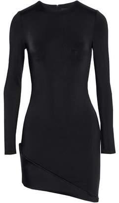 Cushnie et Ochs Asymmetric Crepe Mini Dress