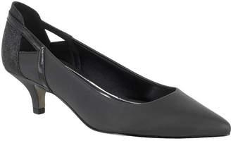 Easy Street Shoes Womens Fancy Pumps Slip-on Pointed Toe Kitten Heel