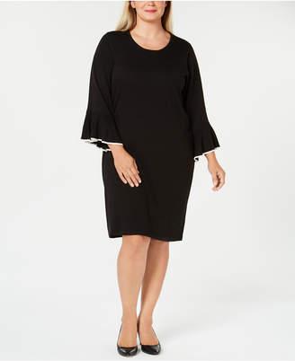 cae6d2cd9b7 Calvin Klein Plus Size Bell-Sleeve Sweater Dress