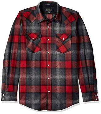 Pendleton Men's Long Sleeve Button Front Fitted Canyon Shirt