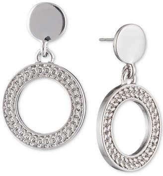 Dkny Textured Drop Hoop Earrings Created For Macy S