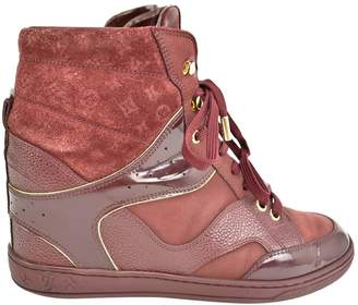 Louis Vuitton Burgundy Leather Trainers
