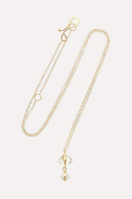 Melissa Joy Manning 14-karat Gold, Herkimer Diamond And Pearl Necklace - one size