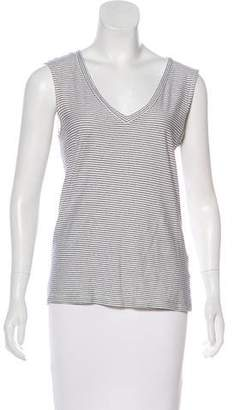 J Brand Cotton Stripped Sleeveless Top