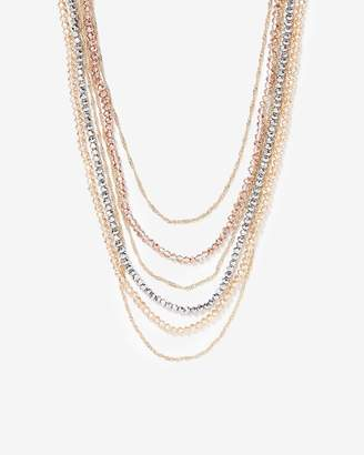 Express Multi-Row Faceted Necklace