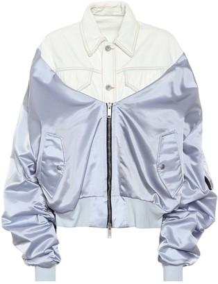 Unravel Denim and satin bomber jacket