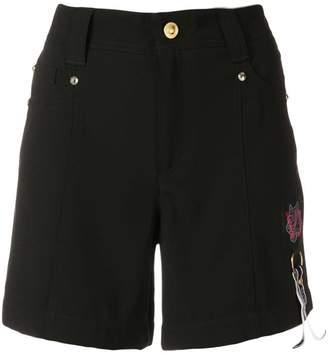 Versace logo patch shorts