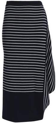 J.W.Anderson Infinity Draped Striped Wool Midi Skirt