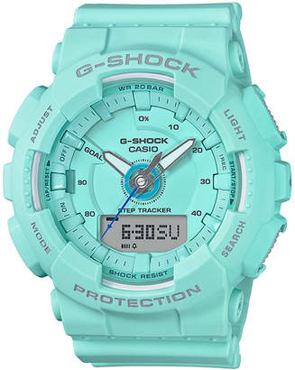 G-Shock Women's Analog-Digital Blue Resin Strap Step Tracker Watch 50mm