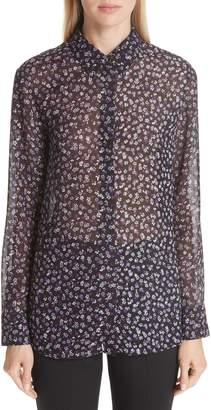 Altuzarra Floral Print Silk Blend Blouse