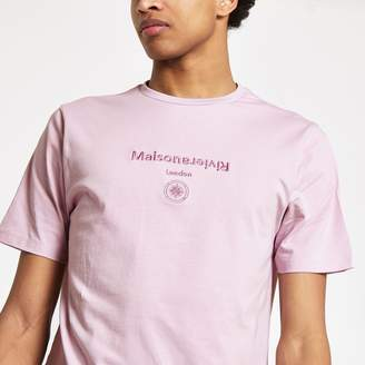 e8ed75243a14c0 River Island Mens Purple  Maison Riviera  slim fit T-shirt