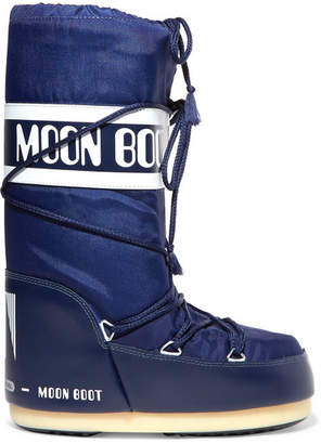 Moon Boot Shell And Rubber Snow Boots - Blue