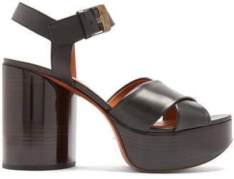 CLERGERIE Viannel cross-strap leather platform sandals