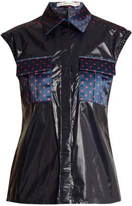 Mary Katrantzou Lily polka-dot detail sleeveless shirt