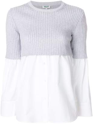 Kenzo cropped shirt layered sweater