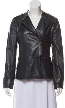 Bernardo Leather Short Coat