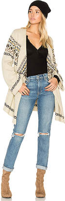 Chaser Drape Front Open Cardigan in Cream $108 thestylecure.com