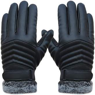 King Star Winter Leather Gloves Warm Touch Screen Gloves Outdoor Mittens For Men