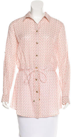 Tory BurchTory Burch Printed Belted Top