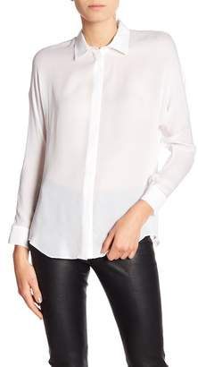 Vince Button Down Hi-Lo Blouse