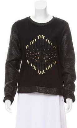 Sass & Bide Long Sleeve Embellished Sweatshirt