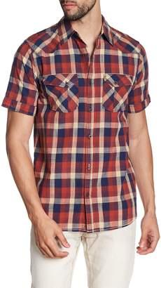 X-Ray Plaid Short Sleeve Slim Fit Shirt