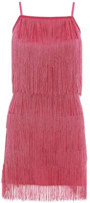 Quiz Pink Fringe Strap Bodycon Dress