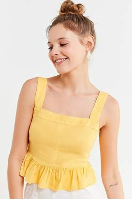 Urban Outfitters Beckett Square-Neck Peplum Cami