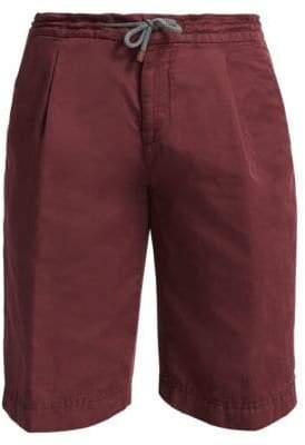Brunello Cucinelli Linen-Blend Drawstring Shorts