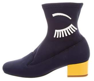 Chiara Ferragni Eye Neoprene Ankle Boots