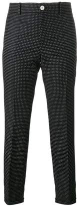 Gucci polka dot cropped trousers