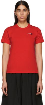 Comme des Garcons Red Double Heart T-Shirt