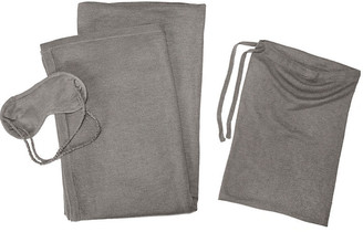 A & R Cashmere A&R Cashmere Cashmere-Blend Travel Set - Heather Gray - a&R Cashmere